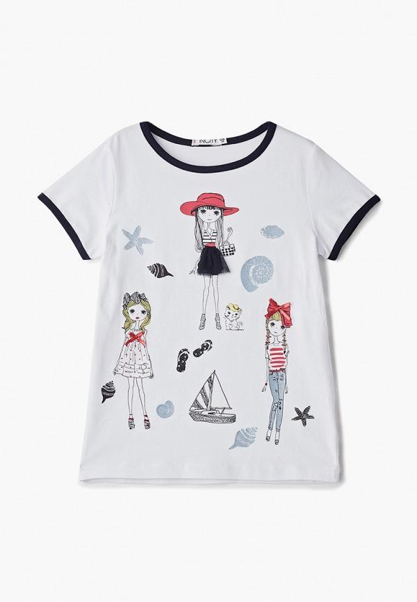 футболка с коротким рукавом incity для девочки, белая