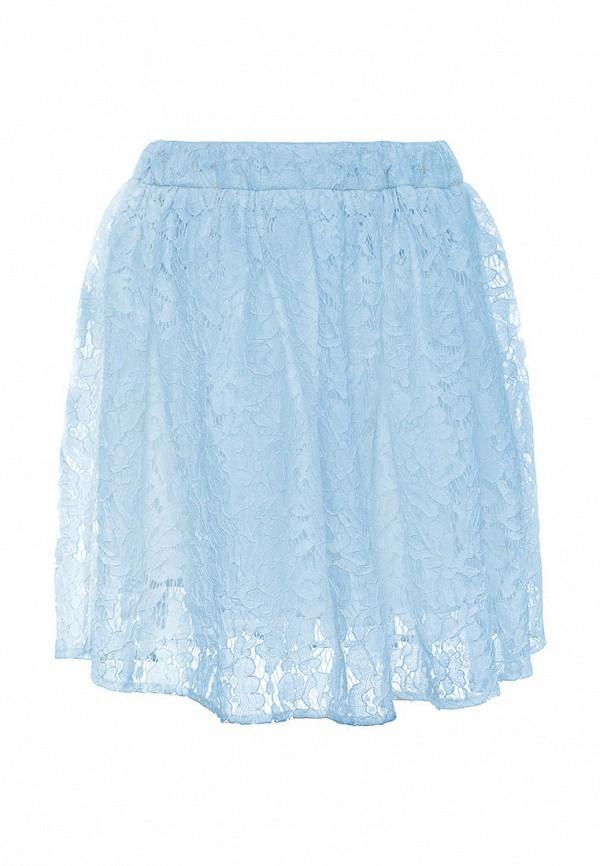 юбка смена для девочки, голубая