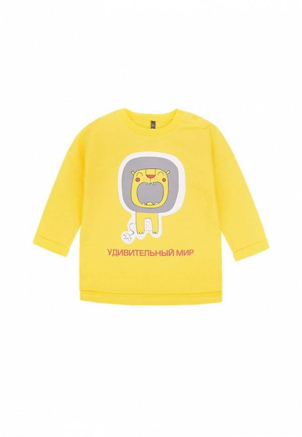 свитшот crockid для девочки, желтый