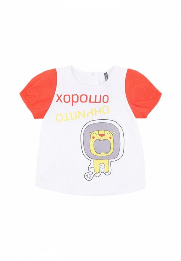 футболка crockid для девочки, белая