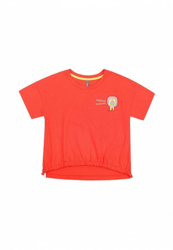 футболка crockid для девочки, красная