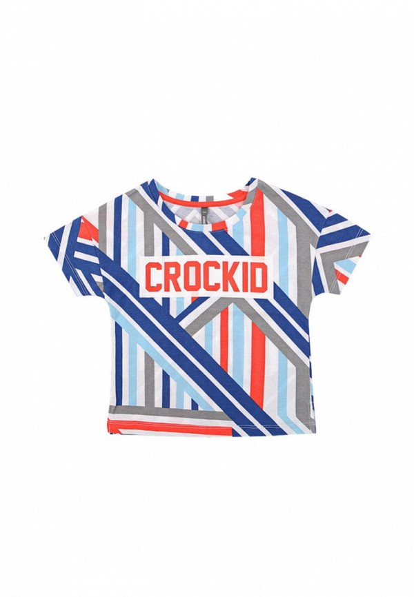 футболка crockid для девочки, разноцветная