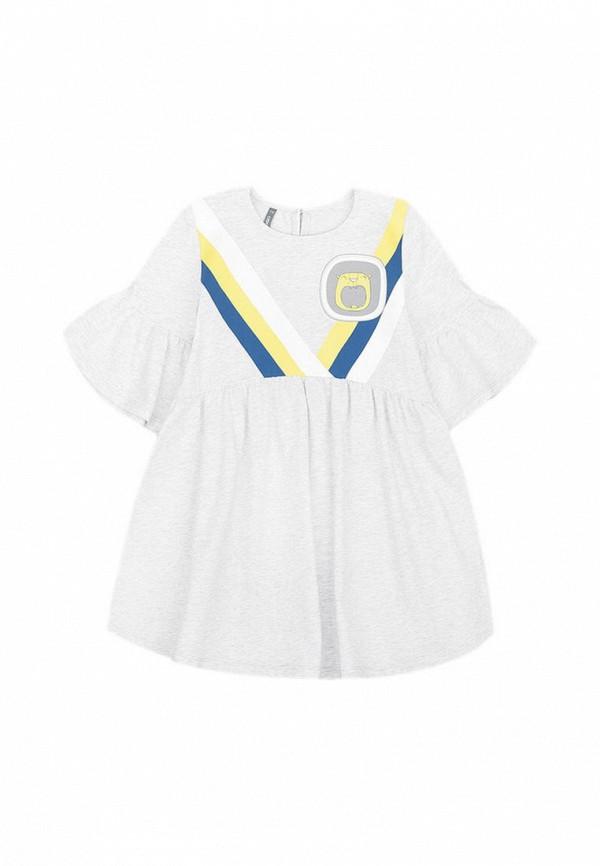 платье crockid для девочки, серое