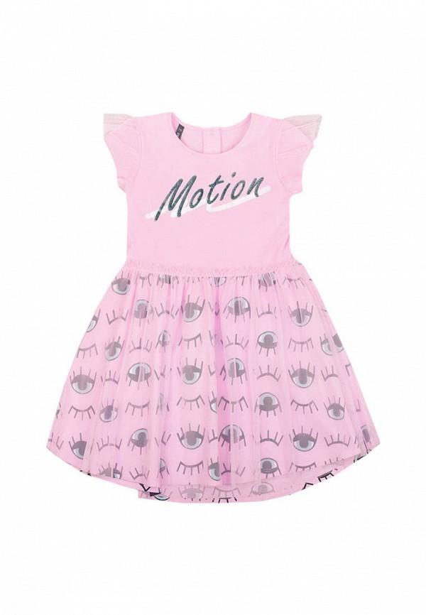 платье crockid для девочки, розовое