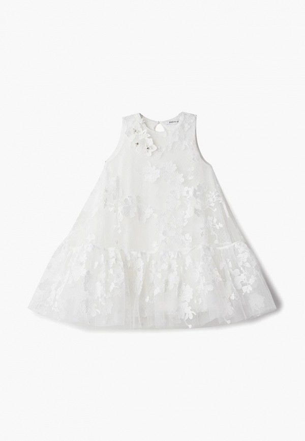 платье zarina для девочки, белое