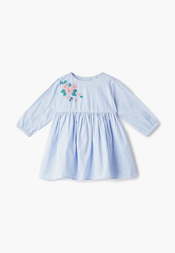 повседневные платье pixo для девочки, голубое