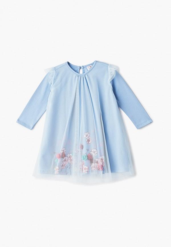 платье pixo для девочки, голубое
