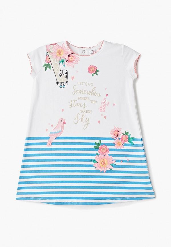 повседневные платье pixo для девочки, белое