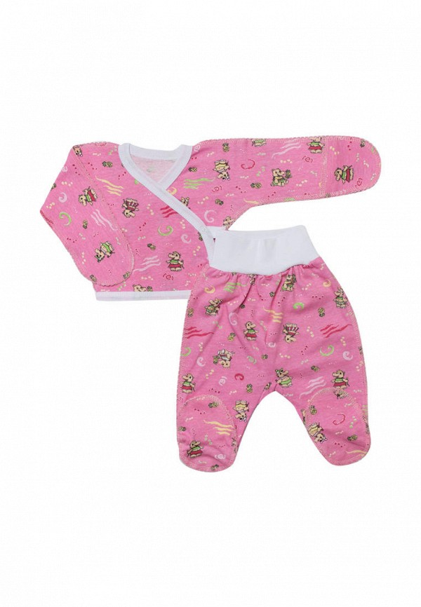 костюм клякса для девочки, розовый
