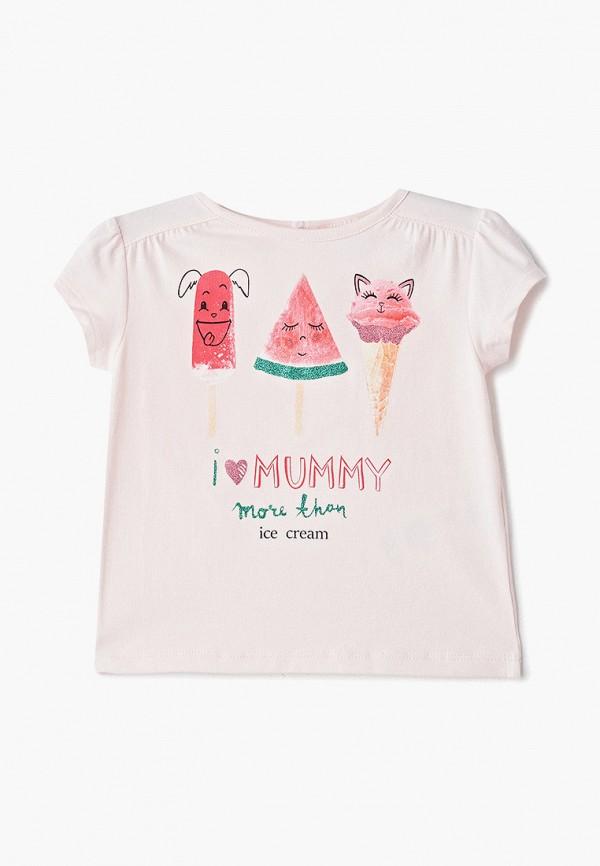 футболка с коротким рукавом pixo для девочки, розовая