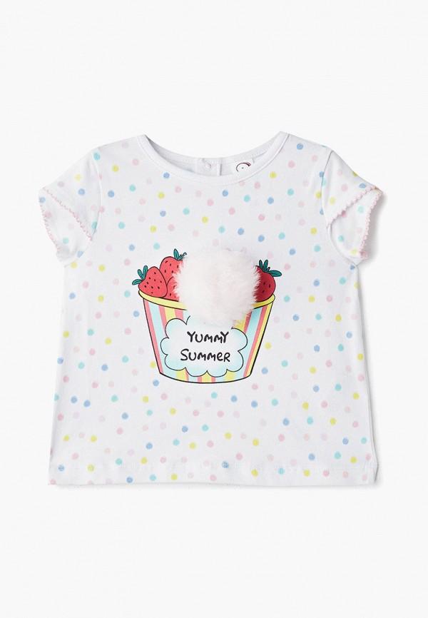 футболка с коротким рукавом pixo для девочки, белая