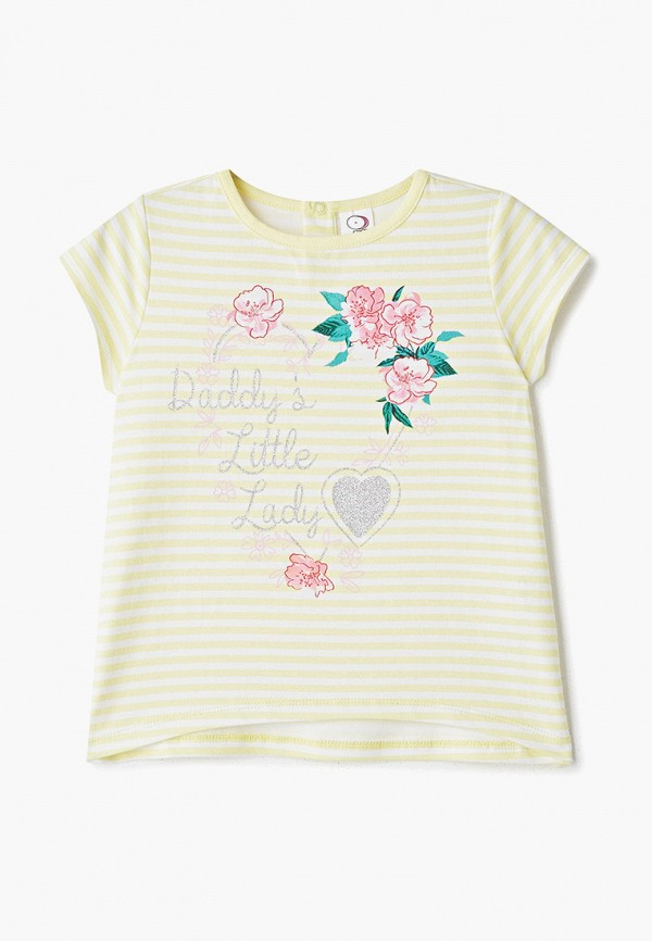 футболка с коротким рукавом pixo для девочки, желтая