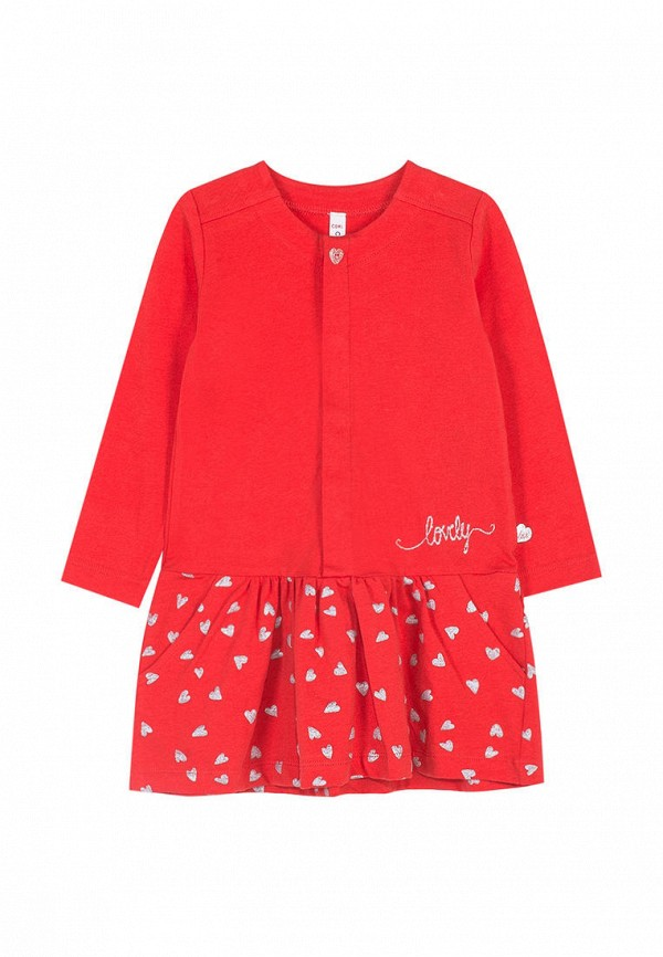 платье coccodrillo для девочки, красное