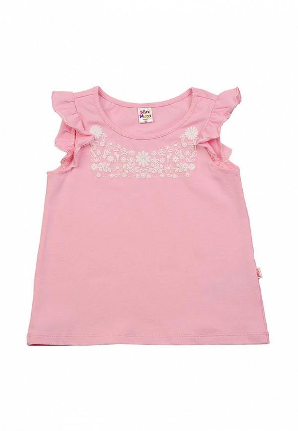 футболка с коротким рукавом mini maxi для девочки, розовая