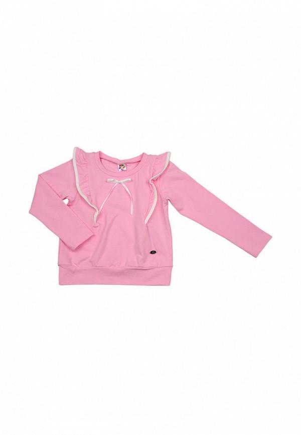 лонгслив mini maxi для девочки, розовый