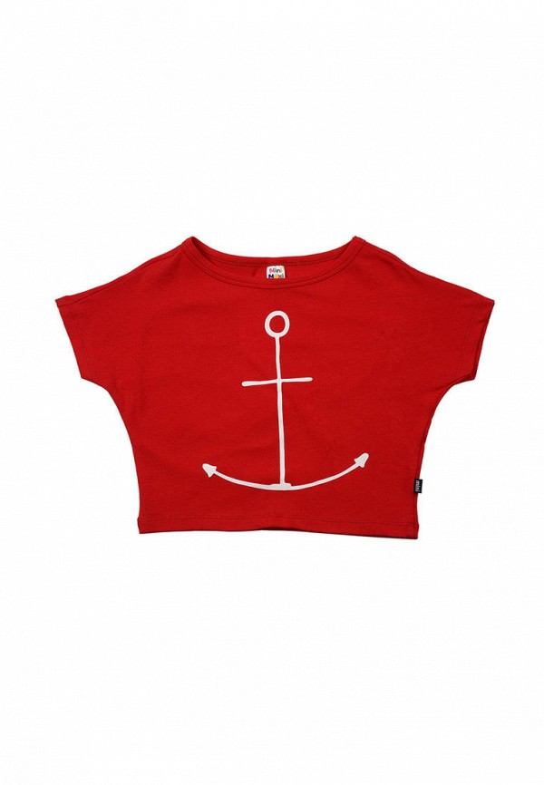 футболка с коротким рукавом mini maxi для девочки, красная