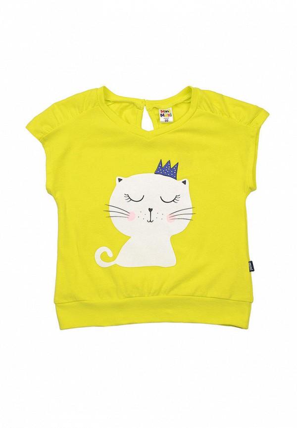 футболка с коротким рукавом mini maxi для девочки, желтая