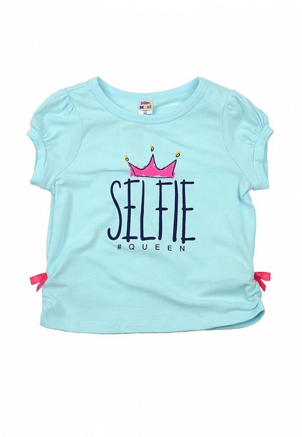 футболка с коротким рукавом mini maxi для девочки, голубая