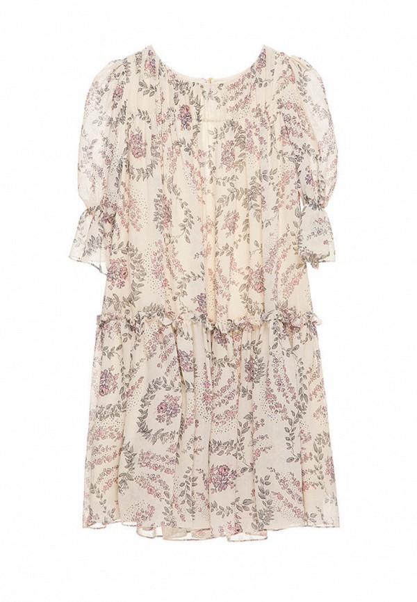 платье malyna для девочки, бежевое