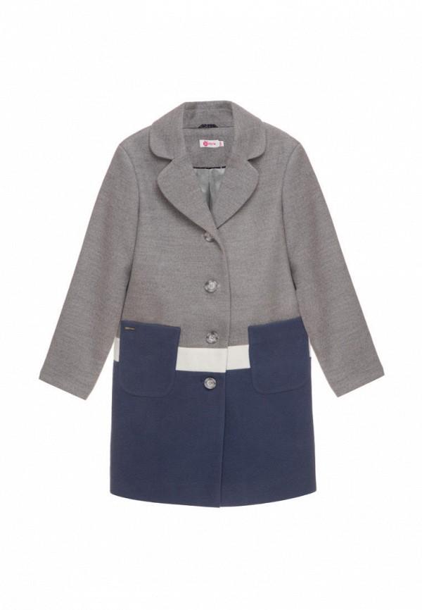 пальто malyna для девочки, серое