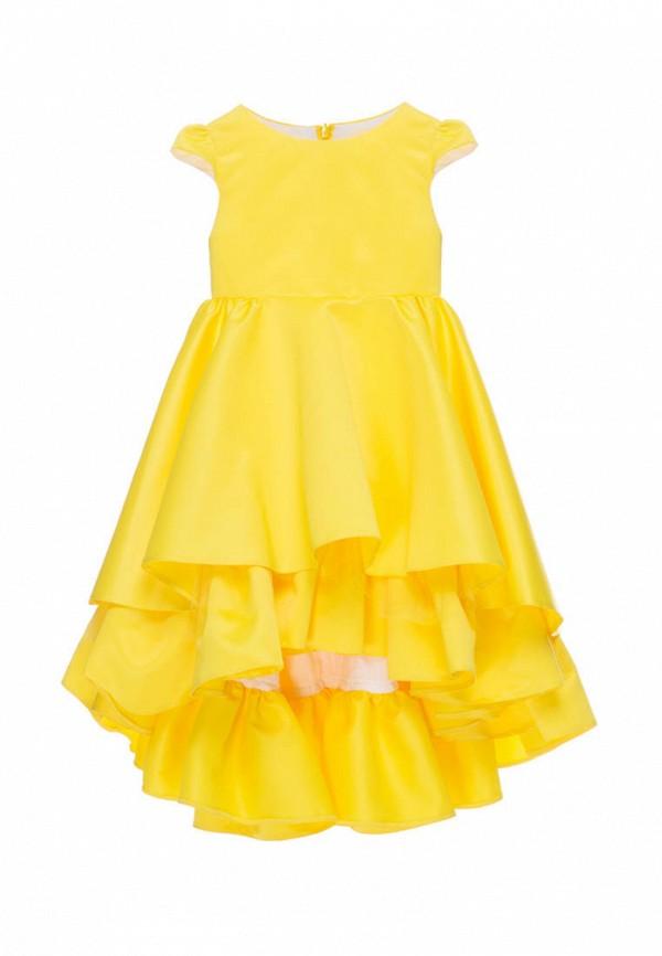 платье malyna для девочки, желтое