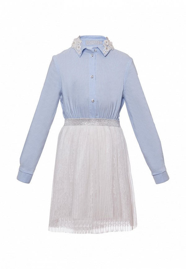 повседневные платье смена для девочки, голубое
