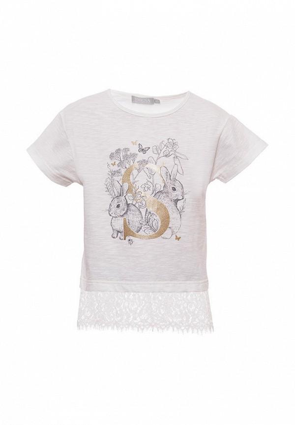 футболка с коротким рукавом смена для девочки, белая