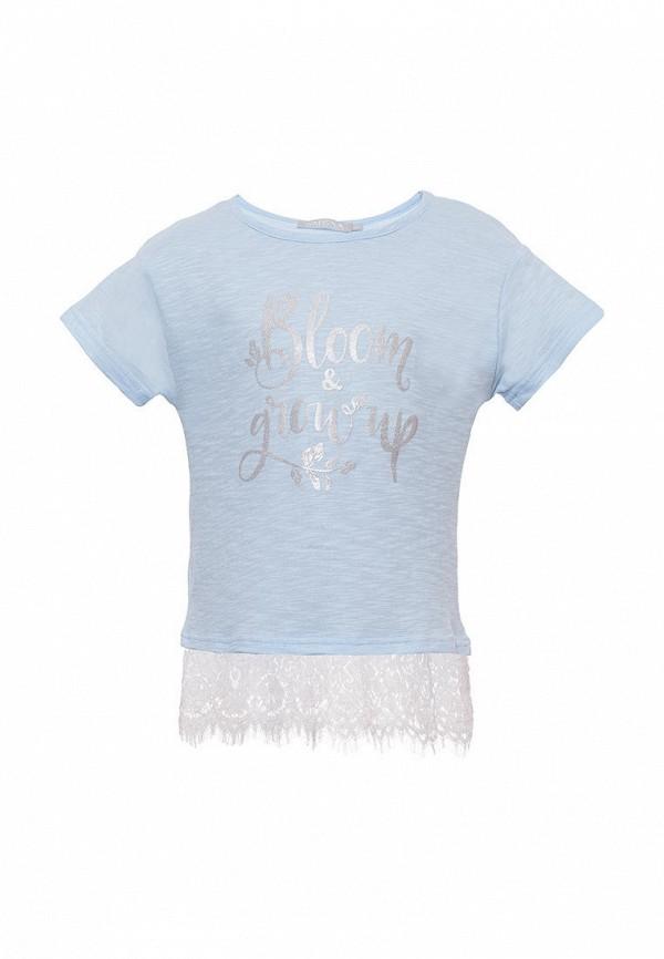 футболка с коротким рукавом смена для девочки, голубая