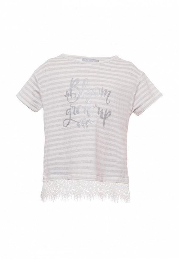 футболка с коротким рукавом смена для девочки, серая