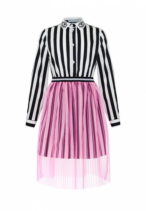 повседневные платье смена для девочки, разноцветное