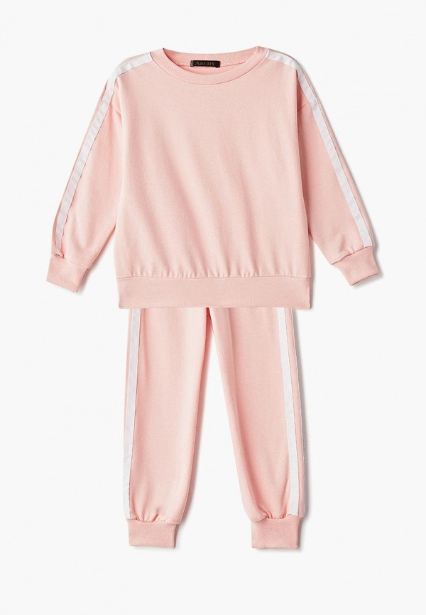 спортивные спортивный костюм archyland для девочки, розовый