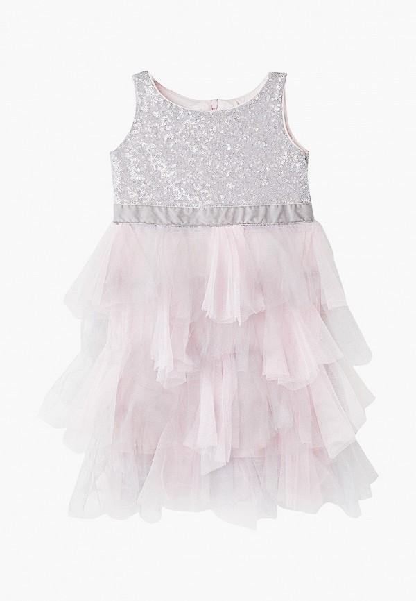 платье mes ami для девочки, серое