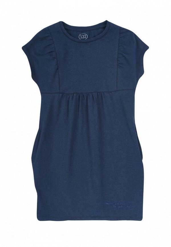 повседневные платье фламинго текстиль для девочки, синее