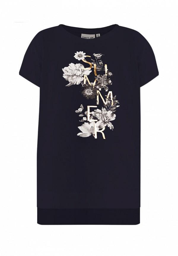 футболка с коротким рукавом finn flare для девочки, синяя