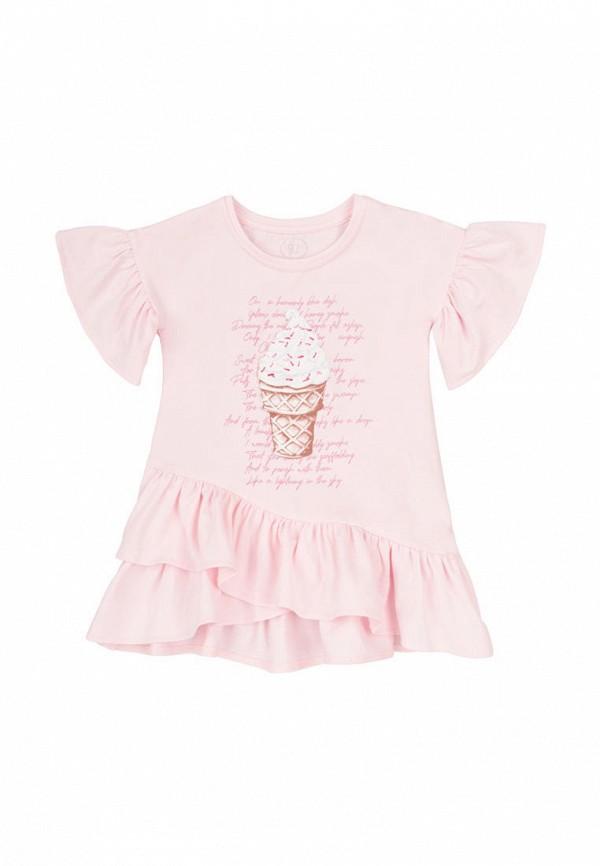повседневные платье фламинго текстиль для девочки, розовое