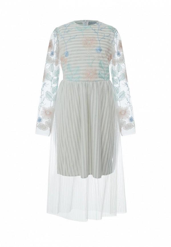 платье смена для девочки, бирюзовое
