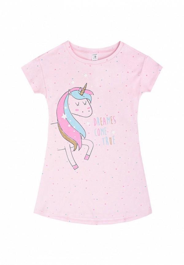 сорочка ночная crockid для девочки, розовые