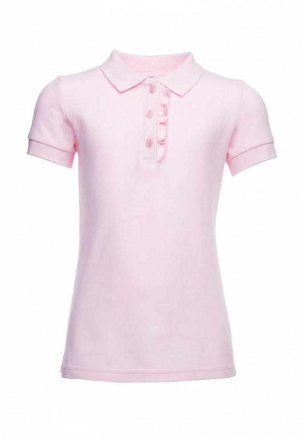 Поло для девочки PlayToday цвет розовый