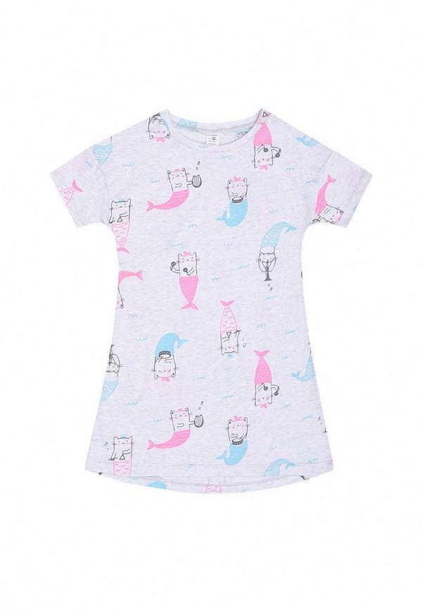 сорочка ночная crockid для девочки, серые