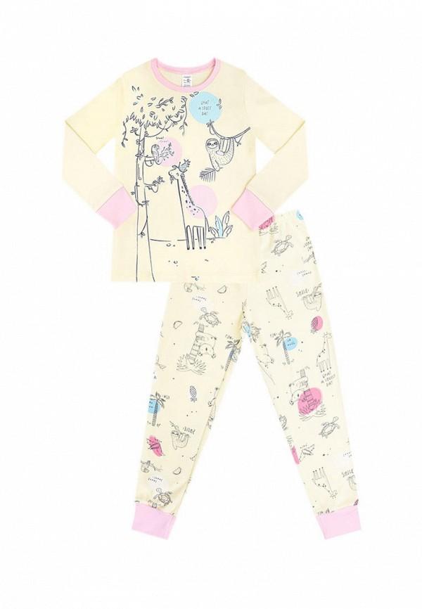 пижама crockid для девочки, желтая