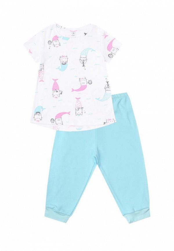 пижама crockid для девочки, разноцветная