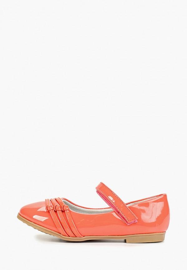 туфли vitacci для девочки, оранжевые