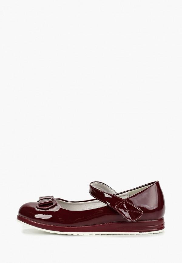 туфли vitacci для девочки, бордовые