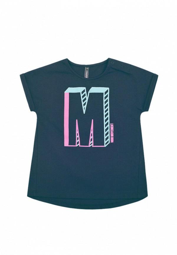 футболка crockid для девочки, серая