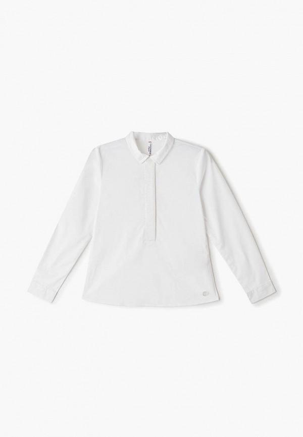 блузка coccodrillo для девочки, белая