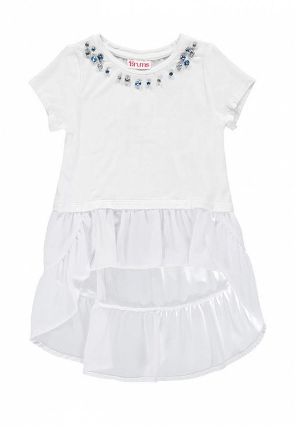 футболка с коротким рукавом brums для девочки, белая