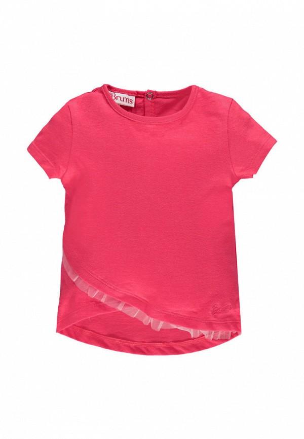 футболка с коротким рукавом brums для девочки, розовая
