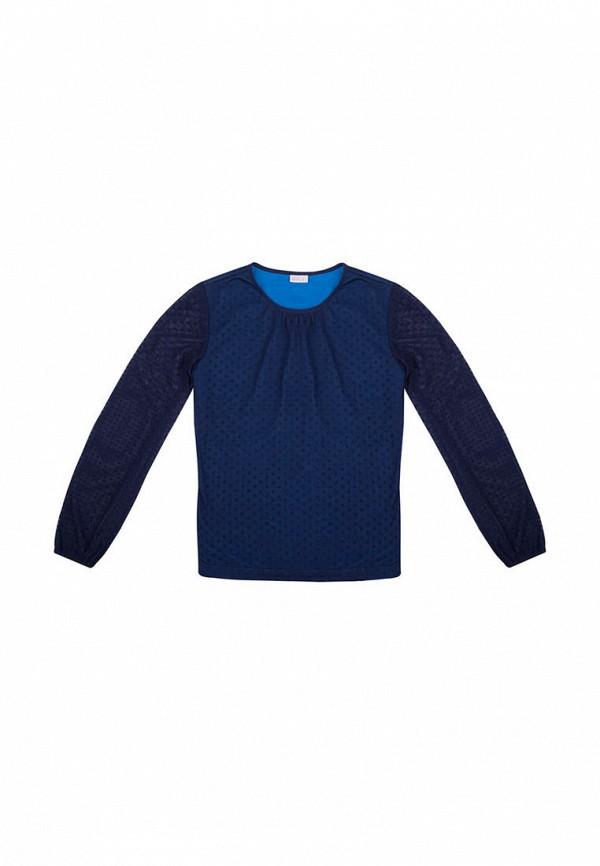 блузка bigu для девочки, синяя