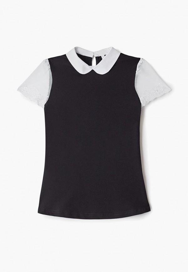 футболка tforma для девочки, черная