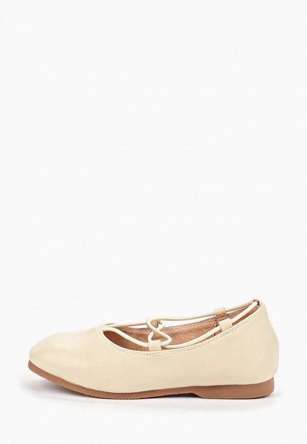 туфли vitacci для девочки, бежевые